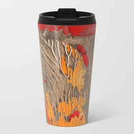 The tree of life gold abstract Travel Mug