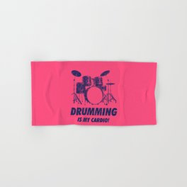 Drumming Is My Cardio Funny Drums Vintage Drummer Distressed Hand & Bath Towel