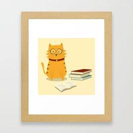 Nerdy Cat Framed Art Print