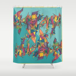 Stained Fractures Shower Curtain
