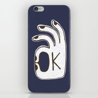kim sy ok iPhone & iPod Skins featuring OK by Alisa Galitsyna