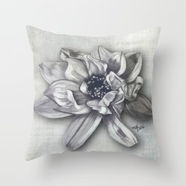 Magnolia Stained Art Throw Pillow