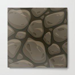 Pattern of painted stones Metal Print