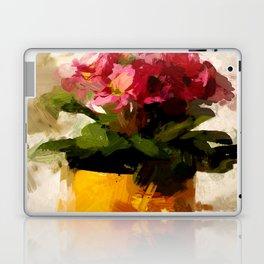 Gelber Becher mit Blumen Laptop & iPad Skin