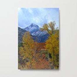 Fall mountains. Misty Trevenque Metal Print