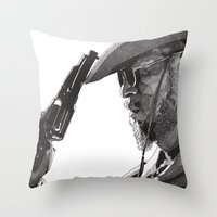 django Throw Pillows featuring Django by Rik Reimert