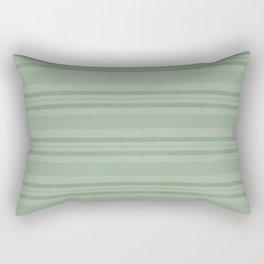 Vintage Stripes in Green Rectangular Pillow