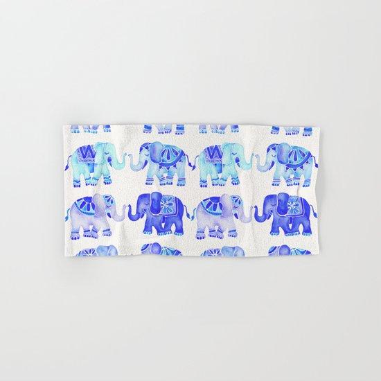 Elephants – Blue Palette Hand & Bath Towel