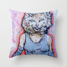How Will I Meow? Throw Pillow