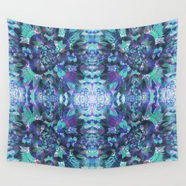 Abstract Floral Burst Wall Tapestry