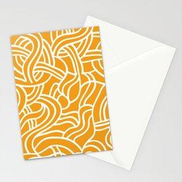 Mustard yellow line pattern Stationery Cards