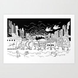 Noah's Spaceship Art Print
