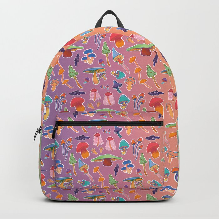 neon mushrooms Backpack