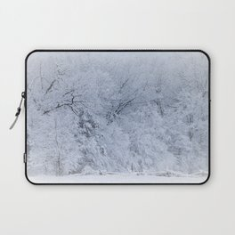 First Snow Fall Fresh Snow on Trees Nature Photography ~ Winter Hush Laptop Sleeve