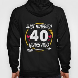40th 40 year Wedding Anniversary Gift Married Husband Wife design Hoody