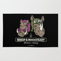 bebop Area & Throw Rugs featuring Bebop & Rocksteady Henchmen Academy  by Fanboy30