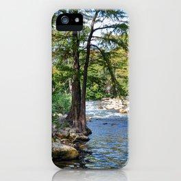 Guadalupe River in Gruene Texas iPhone Case