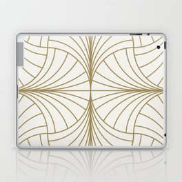 Diamond Series Inter Wave Gold on White Laptop & iPad Skin