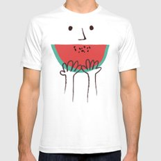 Summer smile SMALL Mens Fitted Tee White