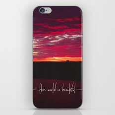 this world is beautiful iPhone & iPod Skin