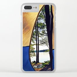Tent Opening at Lake Pemaquid Campground in Damariscotta, Maine Clear iPhone Case
