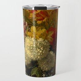 "George Jacobus Johannes van Os ""Still Life with Flowers"" Travel Mug"