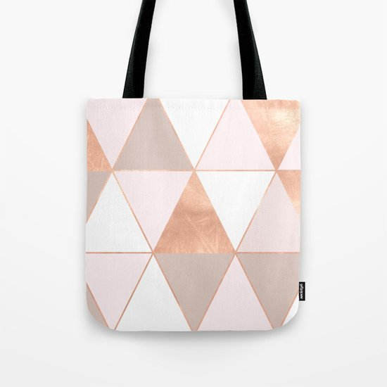 GEO TIKKI - ROSEGOLD PASTEL Tote Bag