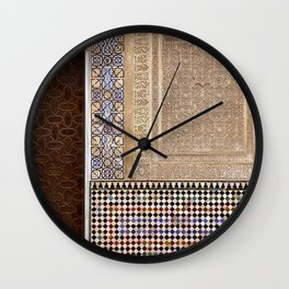 Alhambra Palace. Patio Del Cuarto Dorado Door Wall Clock