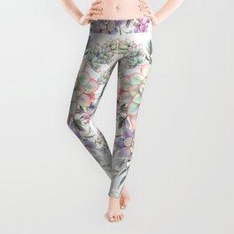 succulent watercolor 8 Leggings
