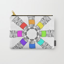 Paint Tube Color Wheel Carry-All Pouch