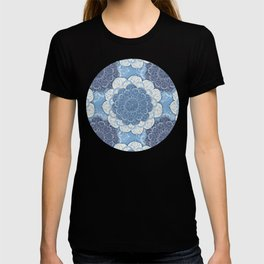 Lacy Blue & Navy Mandala Pattern  T-shirt