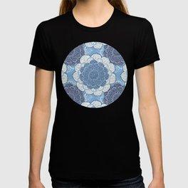 Lacy Blue & Navy Mandala Pattern  T-shirt