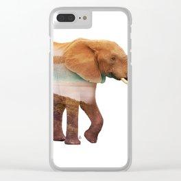 Wild animals : Elephant Clear iPhone Case