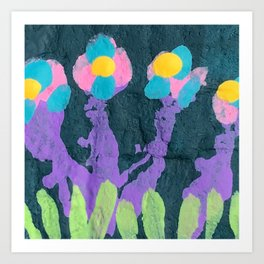 Painted Flowers 1 Art Print