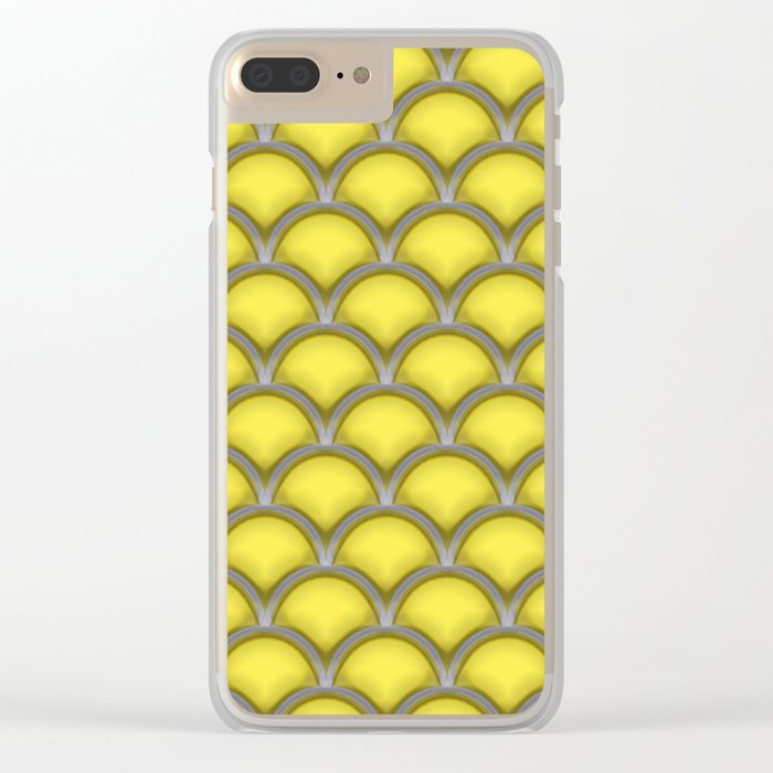 Large scallops in buttercup yellow Clear iPhone Case