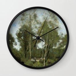 "Jean-Baptiste Camille Corot ""Clearing Pierre du Bois, the Évaux near Chateau"" Wall Clock"
