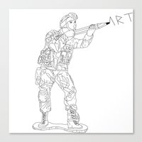 military Canvas Prints featuring Military Art by Dario Olibet