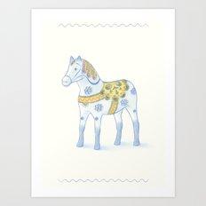 Memories of a wooden horse Art Print