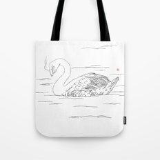 Smoking Swan Tote Bag
