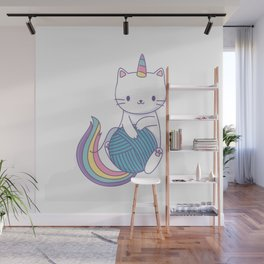 Cat with ball Wall Mural