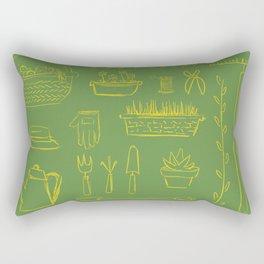 Gardening and Farming! - illustration pattern Rectangular Pillow