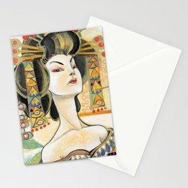Klimt Oiran Stationery Cards