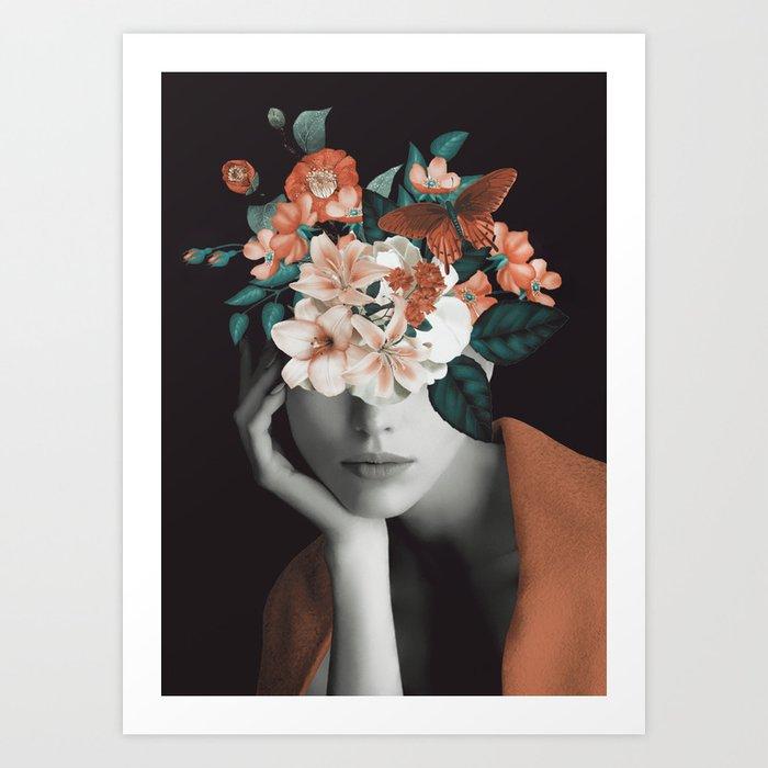 WOMAN WITH FLOWERS 7 Kunstdrucke