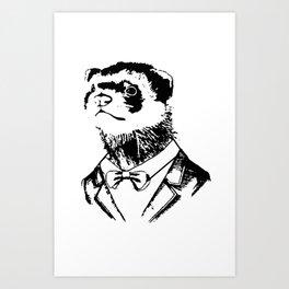 Fancy Ferret Art Print
