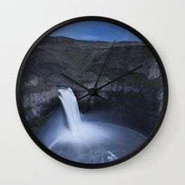 Palouse Falls Moon Wall Clock