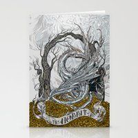 the hobbit Stationery Cards featuring The Hobbit by Denis Rekun