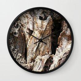 Wood Owl Wall Clock
