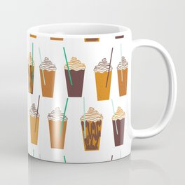 Pumpkin Spiced Latte fall autumn winter seasonal coffee drinks pattern Coffee Mug
