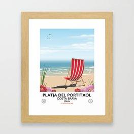 Platja del Portitxol France Framed Art Print