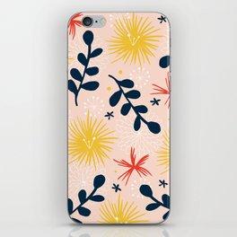 bold floral retro print iPhone Skin